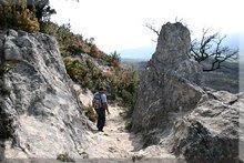 Paso en la roca