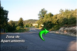 Pista al otro lado de la carretera