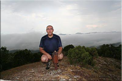 Olvedo mendiaren gailurra 930 m. - 2009ko abuztuaren 18an