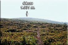 Loma cimera de Oketa