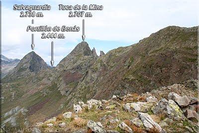 Salvaguardia y Tuca de la Mina visto desde la Tuca del Port de la Picada