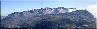 Vistas del Macizo 'Maladeta - Aneto' desde la Tuca Gallinero