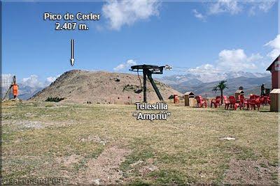 Área del Telesilla Ampriú, enfrente el Pico de Cerler