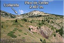 Vistas del Pico de Cerler durante el descenso al Aparcamiento