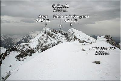 Llena de la Garganta visto desde el Pico Llena del Bozo