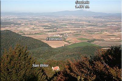 San Bitor a los pies de Itxogana