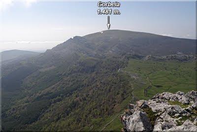 Gorbeia visto desde Lekanda