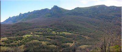 Otoño de 2002 - Panorámica desde los puestos de caza de Semendia