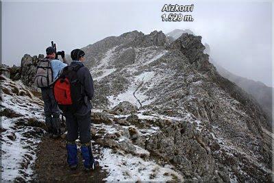Excelente mirador de la cima de Aizkorri