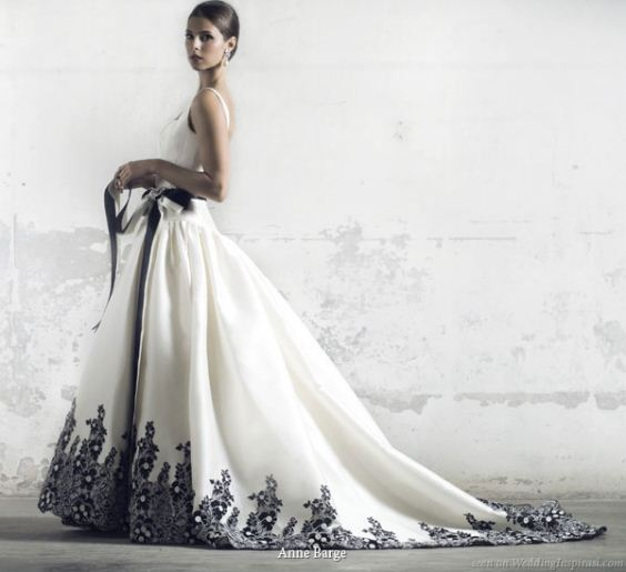 Wedding Dresses Black White