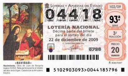 LOTERIA DE NAVIDAD 2009