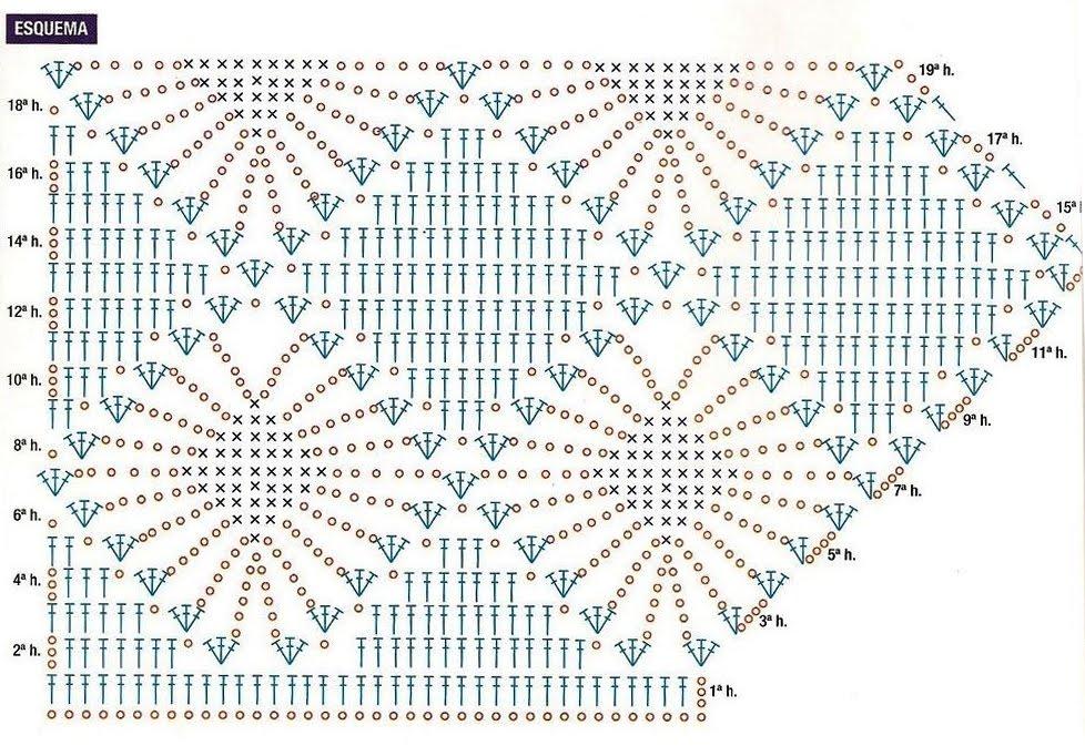 Patrones de Tejido Gratis - Saco de rombos con terminaciones en zigzag
