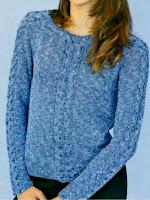 Damen blauen Pullover