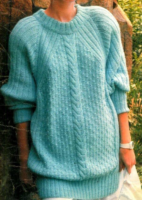 Вязание спицами свитеров жакетов 99