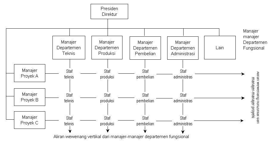 Contoh Bagan Organisasi Divisional Atas Dasar Produk
