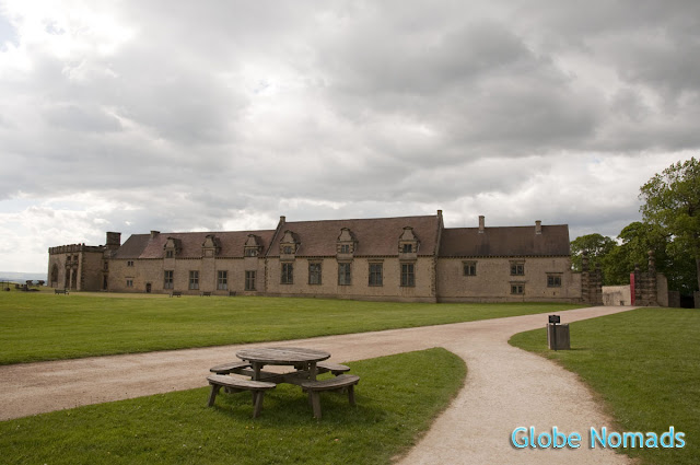 Travel, Attractions, United Kingdom, Bolsover Castle, external courtyard