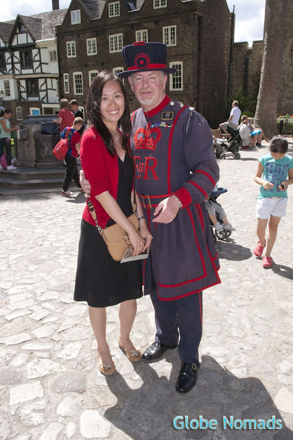 Posing with the Yeoman Warder