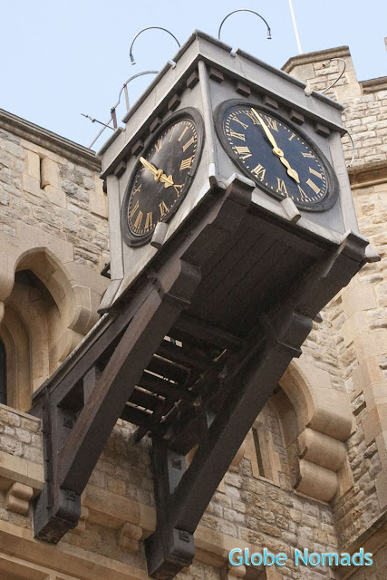 Clock at the waterloo block in Tower of London