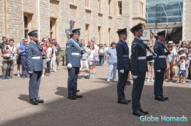 change of guard right outside the jewel house