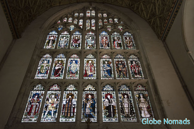 stained glass windows in the chapter house of canterbury cathedral