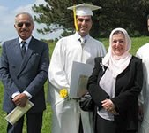 Outstanding graduate Najeeb Najeeb with parents