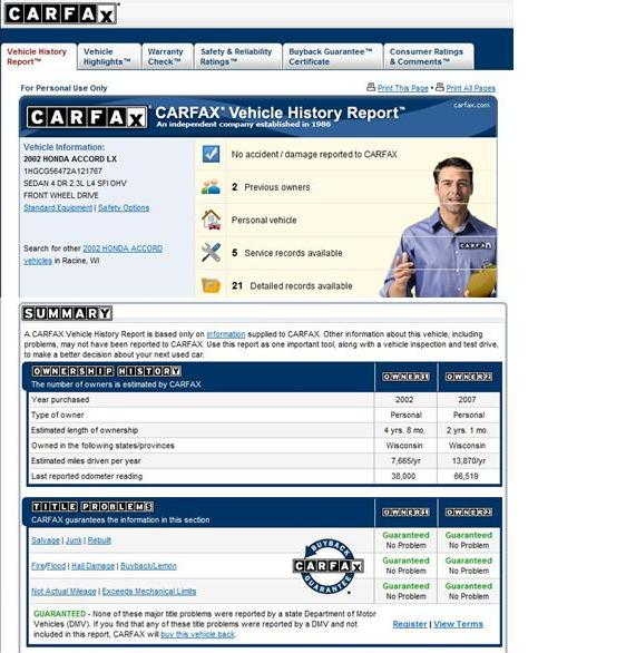 Carfax discount coupon