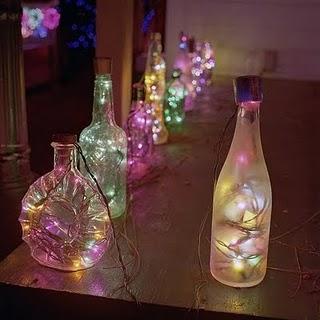 garrafas iluminadas