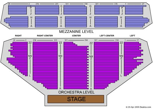 Pantages Theater seating chart: check the seating chart ...