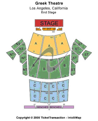 Greek Theater seating chart: check the seating chart here ...