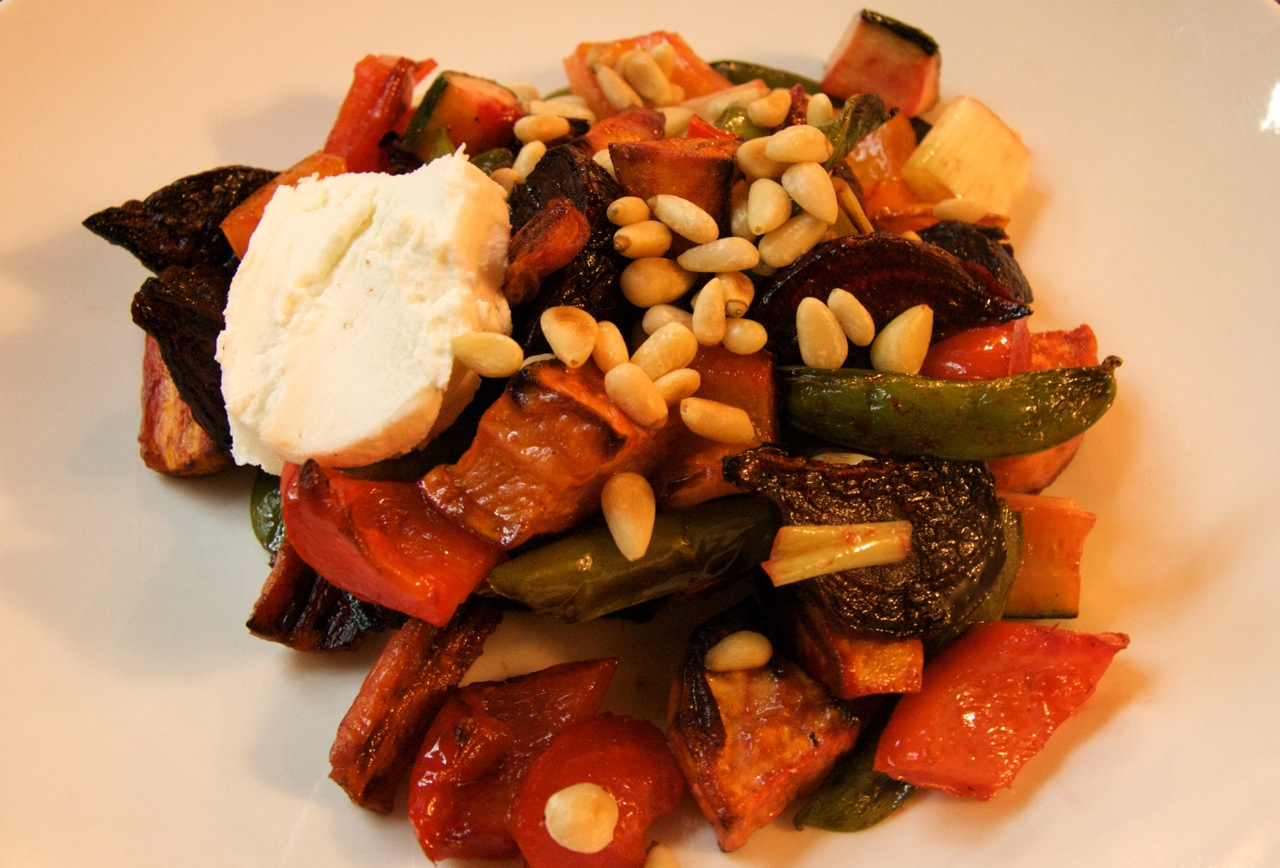 Roasted Vegetables with Goat Cheese | Feast of Joy