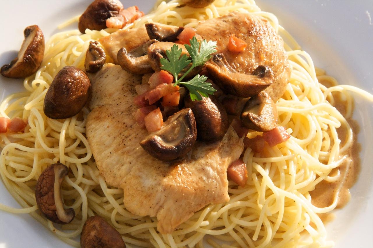 Chicken Marsala with Pancetta and Cream | Feast of Joy