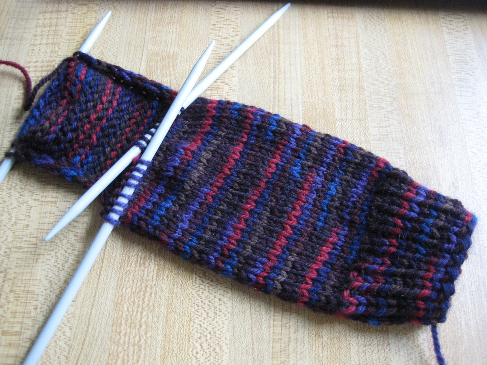 Sock Knitting : just turned the heel witht the help of Silvers Sock Class . Without ...