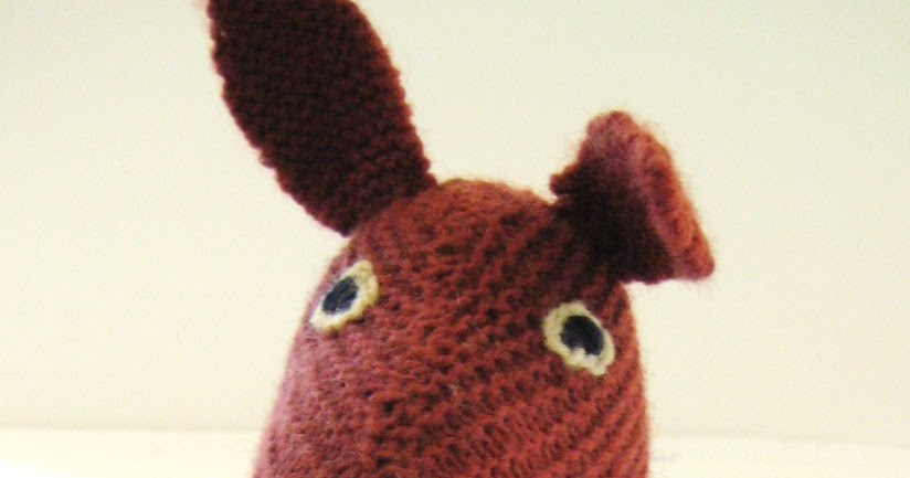 Kangaroo Pouch Knitting Pattern : Dominant Hands: G Day: Its Katie the Knit Kangaroo!