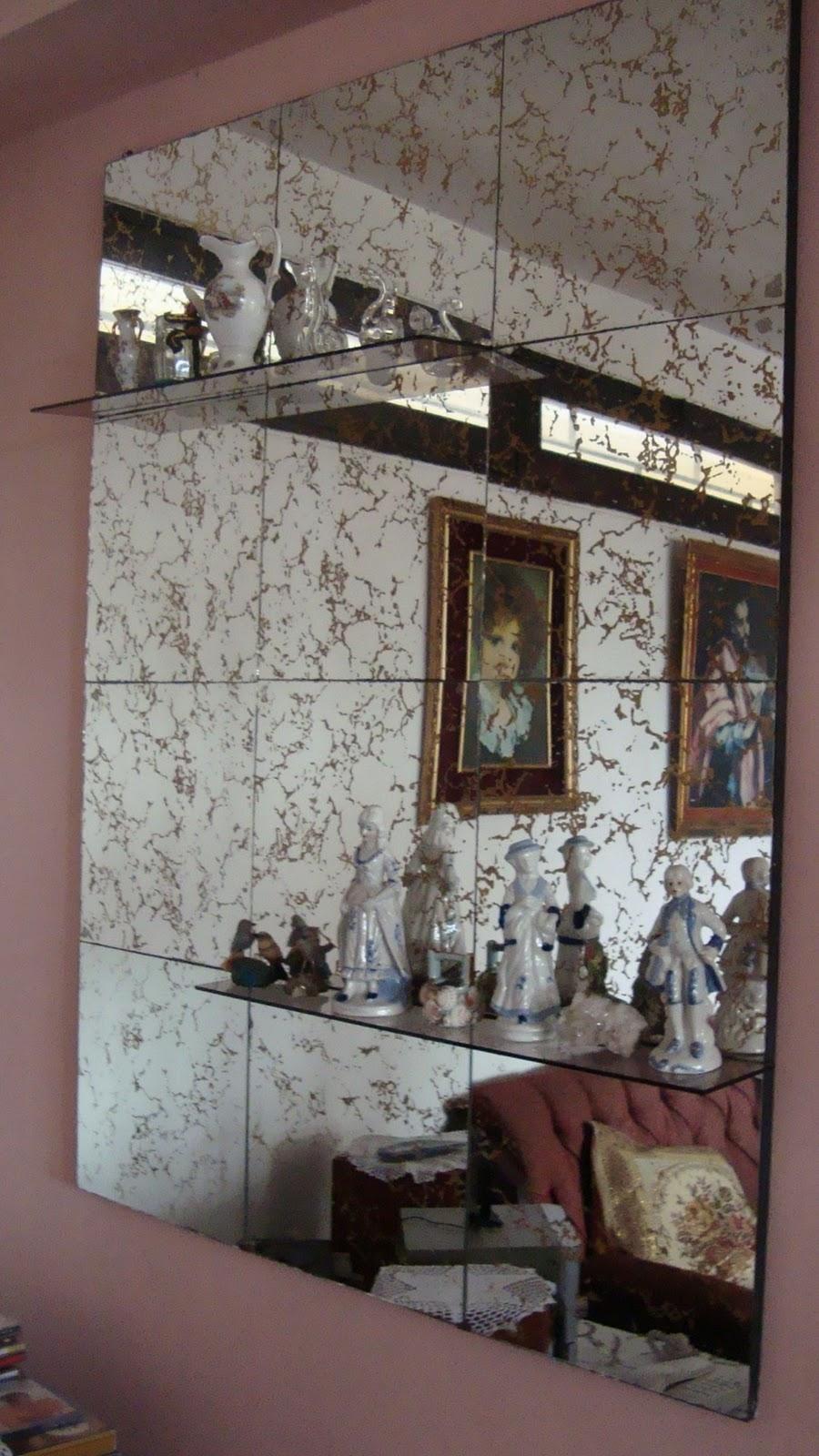 Antiguo y moderno espejo de pared con dorado - Espejos antiguos de pared ...