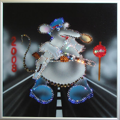 Beautiful crystal paintings