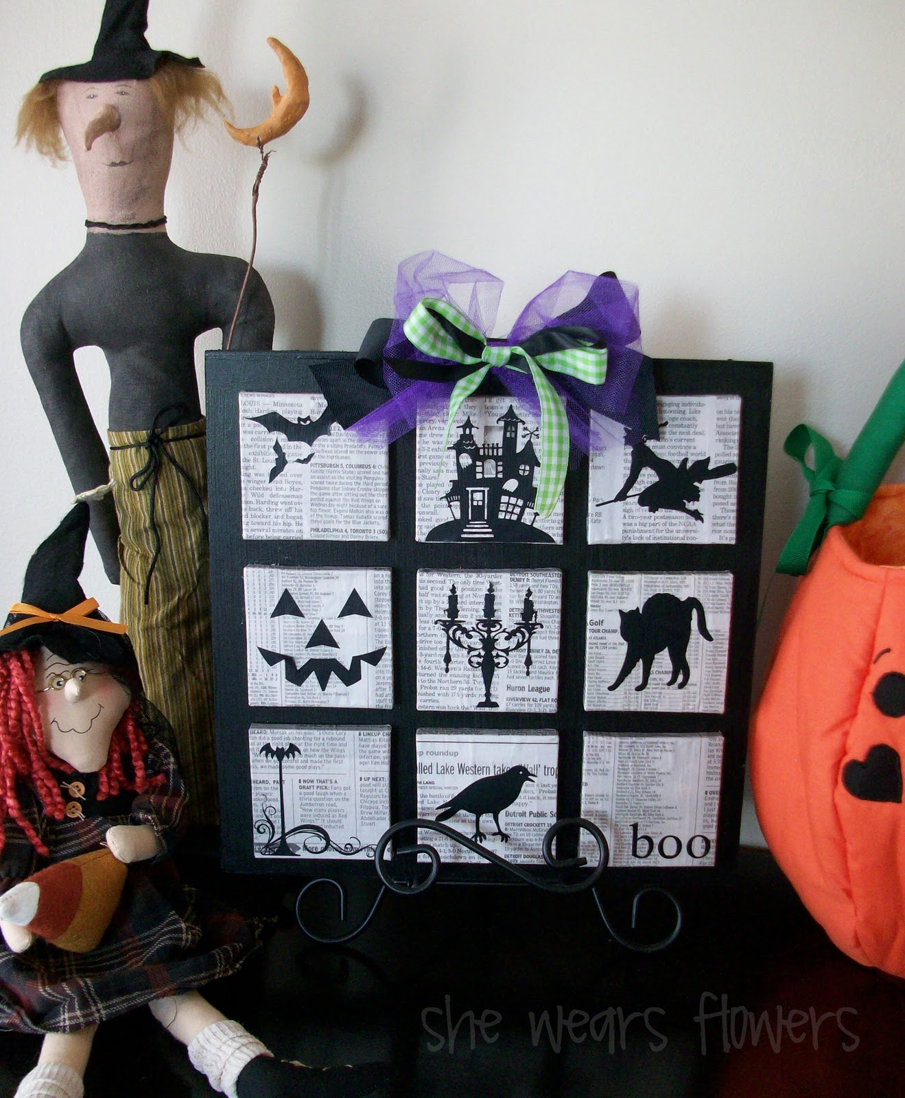 she wears flowers: lots of halloween silhouettes