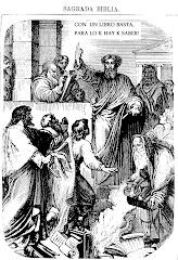 (San Pablo, como un nuevo Finees, organiza una quama de libros sagrdo de otras religiones)