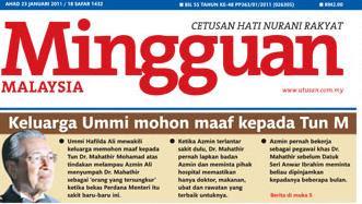 Mingguan Malaysia, 23 Januari 2011