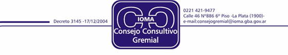 Consejo Consultivo Gremial  IOMA
