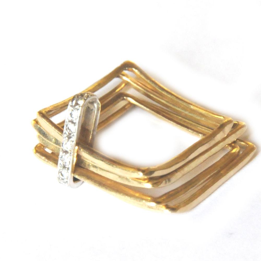 larissa landinez gold and diamonds square ring