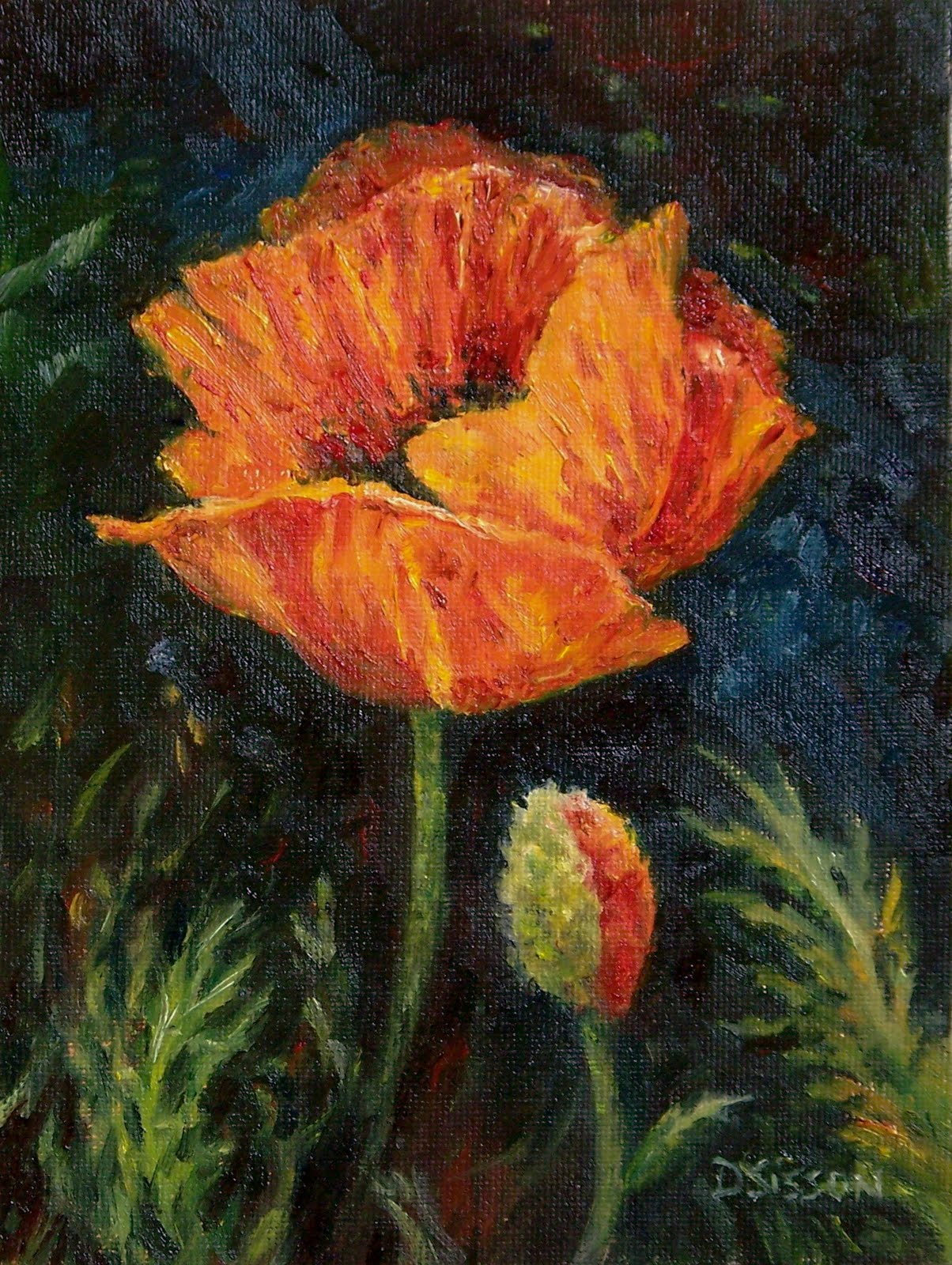 Daily painting projects orange poppies oil painting flowers still orange poppies oil painting flowers mightylinksfo