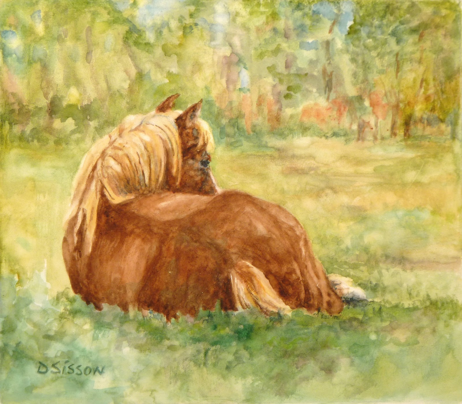Daily Painting Projects: Resting in South Pasture Oil Painting Farm ...