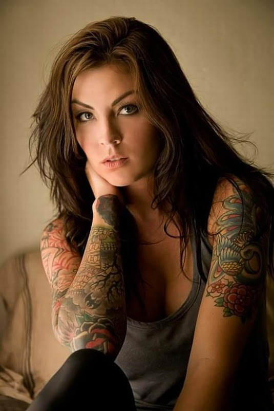 Girls With Sleeve Tattoos
