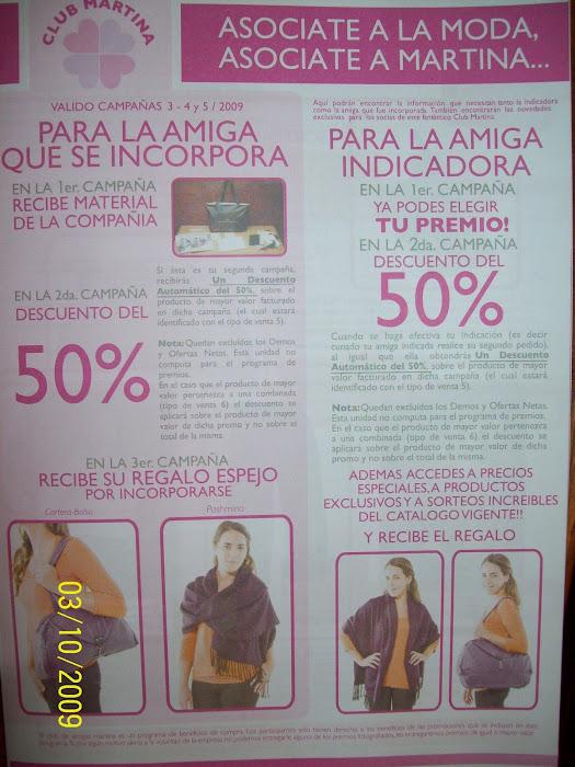 NUEVOS PREMIOS EN EL CLUB MARTINA, ATENCION!!!!!