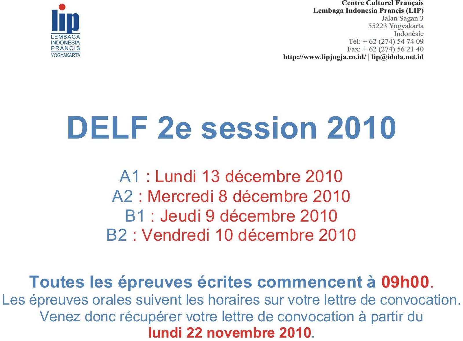 épreuve delf b1