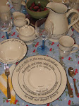 "We carry ""Feed on the Word"" Dinnerware"