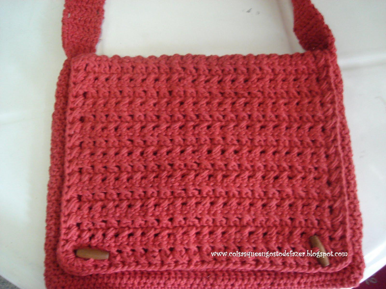 Bolsa Para Carregar Cachorro Em Croche : Coisas que eu gosto de fazer bolsa croche em