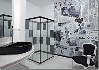 decorar parede com jornal