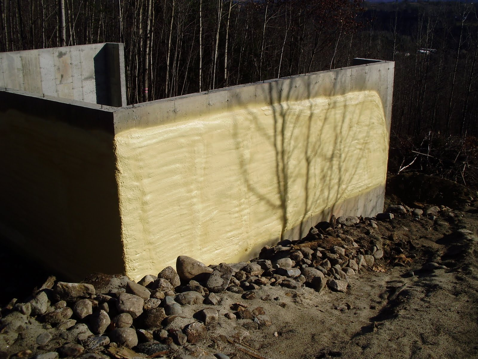 green home white mountains progress report spray foam insulation