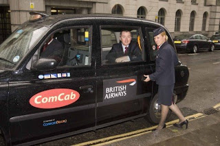 BA CEO Willie Walsh in a London black cab